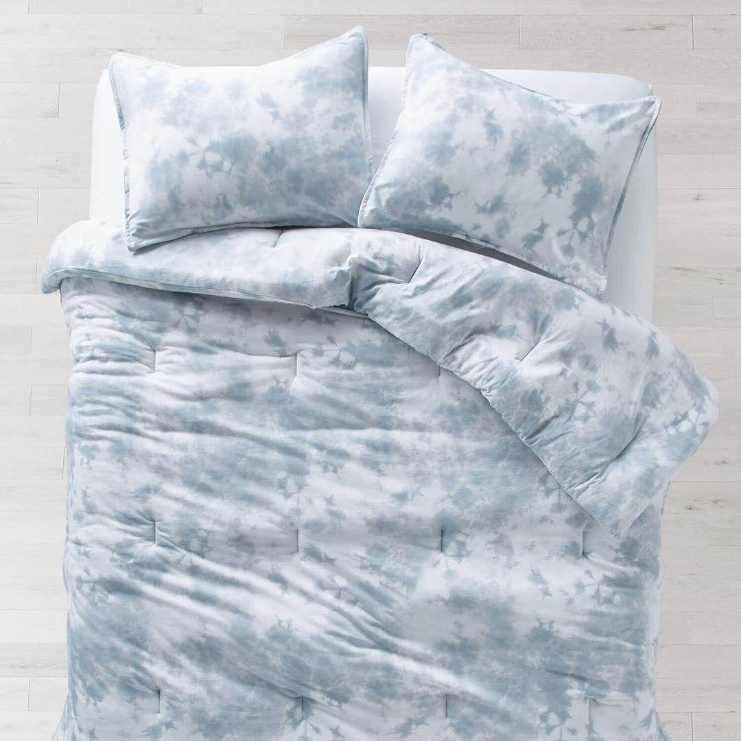 Tie Dye Jersey Duvet Cover And Sham Set Light Blue Full Bedding Sets Queen Bedding Sets Luxury Bedding Master Bedroom
