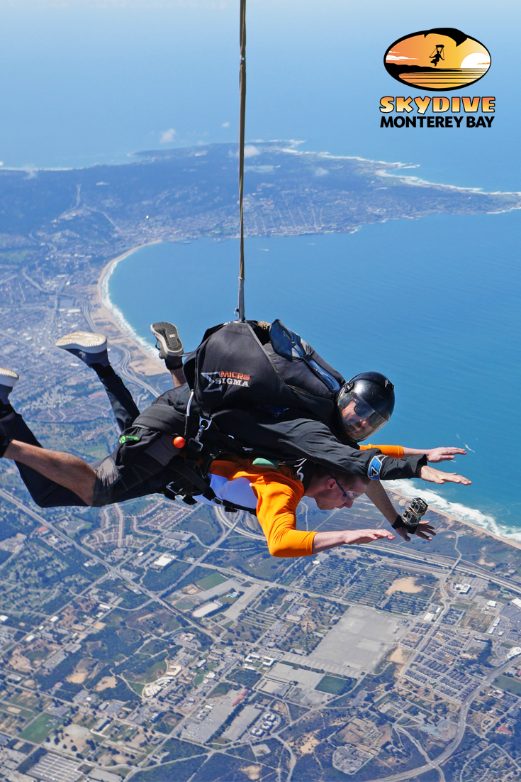 We Ve Got Your Back On Your First Skydive Literally Your Very First Jump Will Be A Tandem Skydive You Will Be A Skydiving Skydiving Experience Monterey Bay