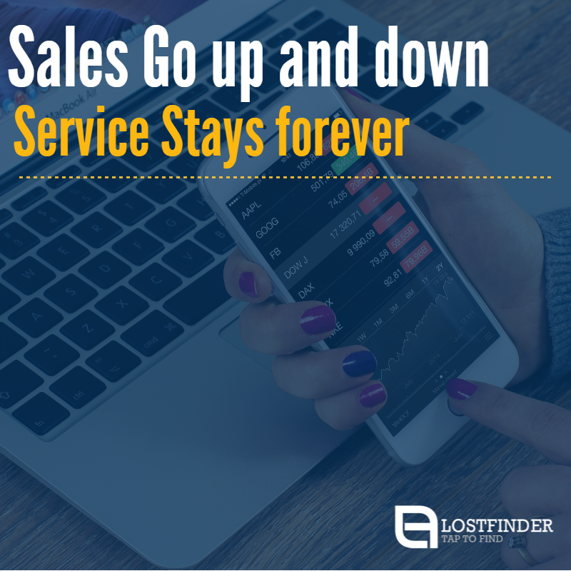 """""""Sales Go up and down  Service Stays forever."""" #Sales #Service #BusinessQuotes"""