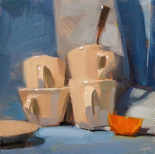 """Stacks  and  Shadows"" - Original Fine Art for Sale - © by Carol Marine"
