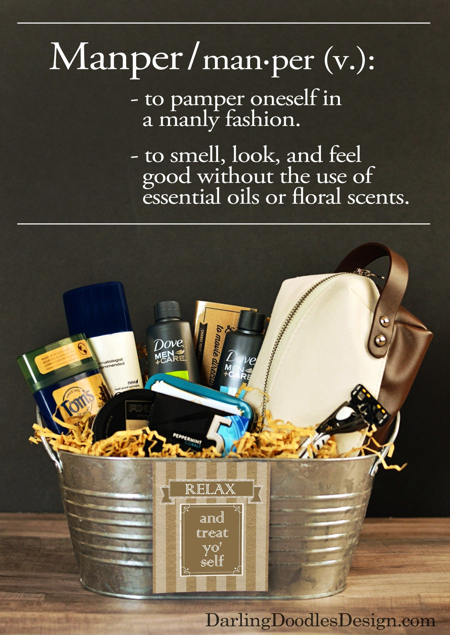 Diy Gift Basket For Fathers Day