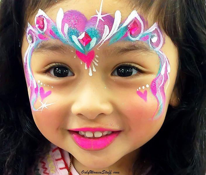 15 Easy Kids Face Painting Ideas For Little Girls Diy Girl Face Painting Face Painting Easy Face Painting Unicorn