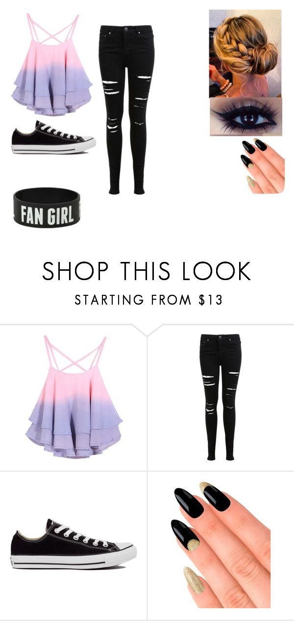 """""""Summer"""" by avengersfangirl20 ❤ liked on Polyvore featuring Miss Selfridge, Converse and House of Holland"""