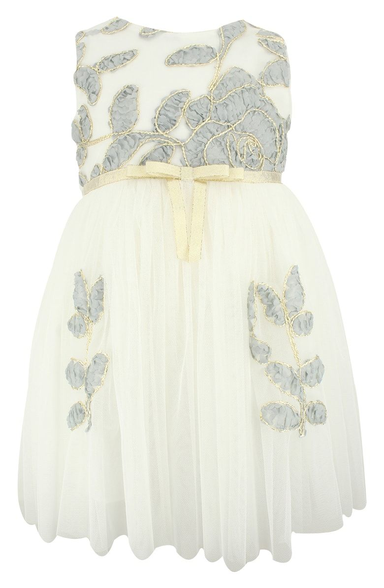 e9aa05e35ba Free shipping and returns on Popatu Flower Embellished Tulle Dress (Toddler  Girls