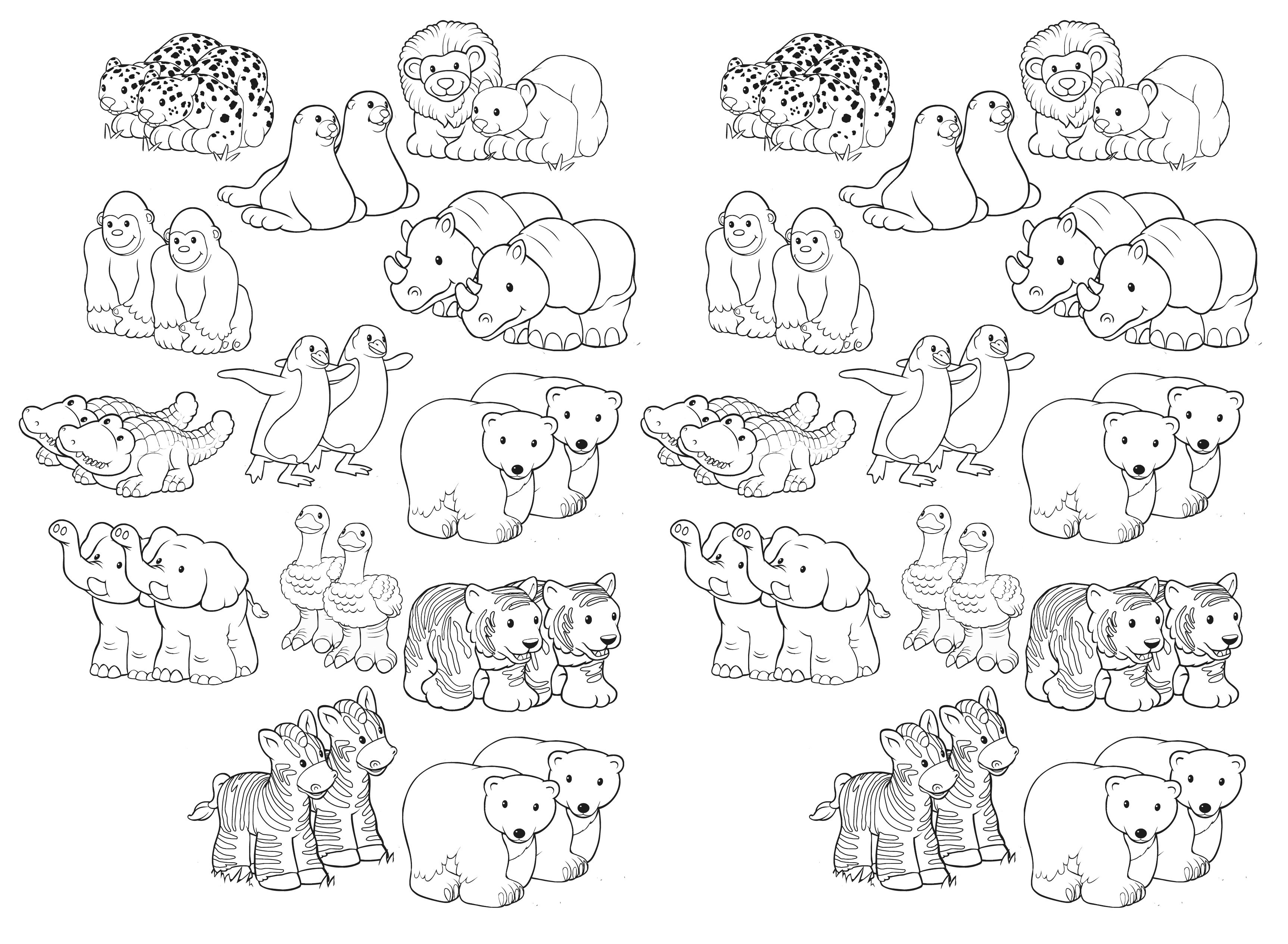 Noah S Ark Free Printable Of Animal Pairs Bible Coloring Pages