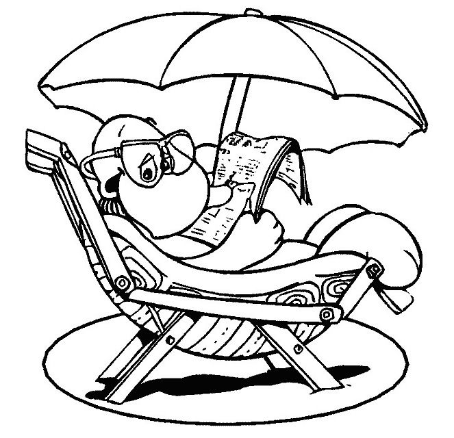 Fun Summer Coloring Pages 663x640 Picture Animal And