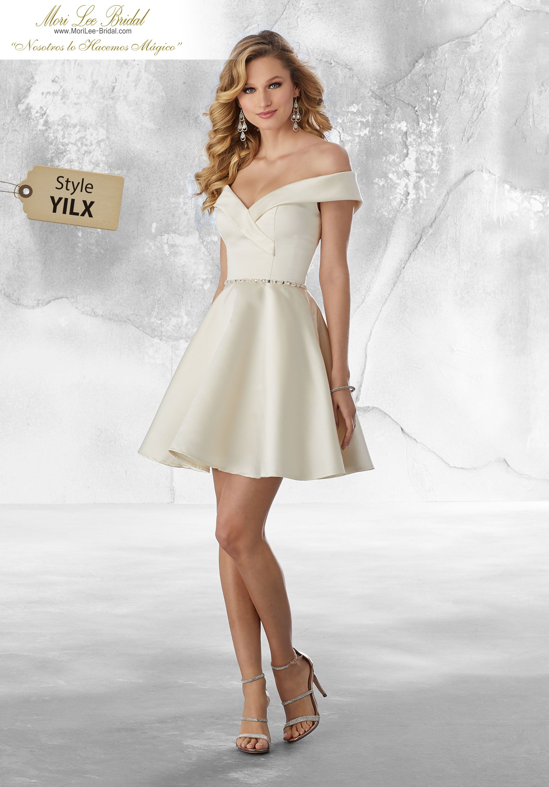 e501bc91a0 Estilo YILX Satin Party Dress with Beading Satin Damas Dress Featuring a  Sophisticated Off the Shoulder V-Neckline with Beading at the Waist Colors   Emerald ...