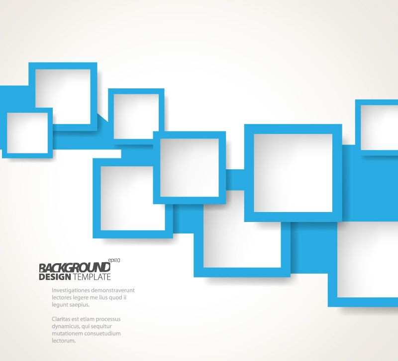 Blue Backgrounds Eps Blue Square Background Free Vector