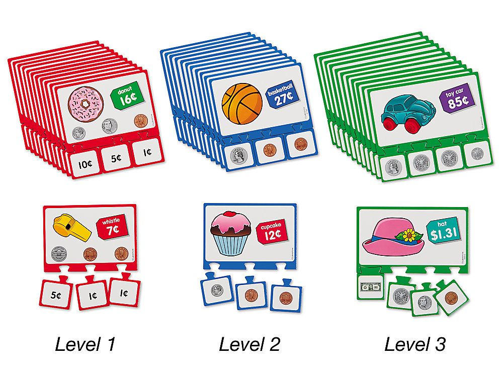Counting Money Puzzles Complete Set Counting money