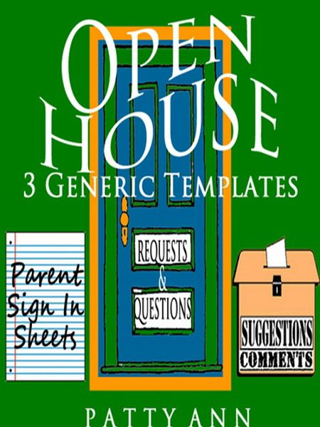 These 3 Open House templates save time! Presented in a Word Doc ALL