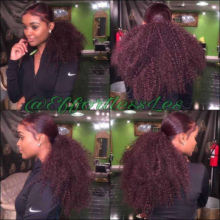 Purplish and pinkish ponytail | hair don\'t care :) | Pinterest ...