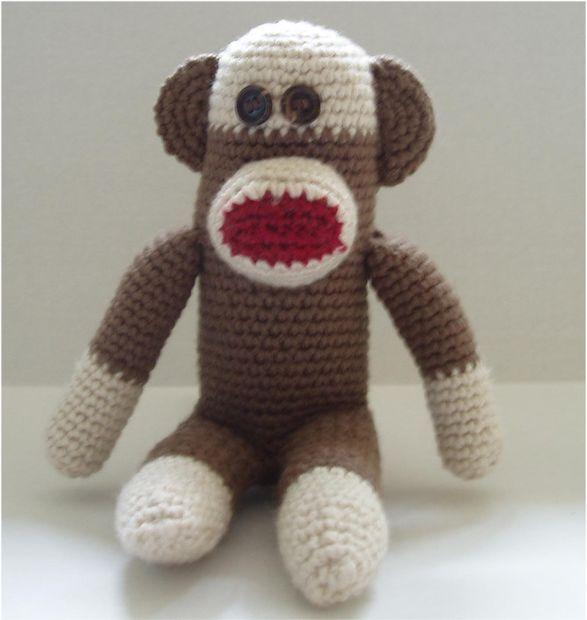 Image detail for -crochet sock crochet monkey hat baby sock monkey ...