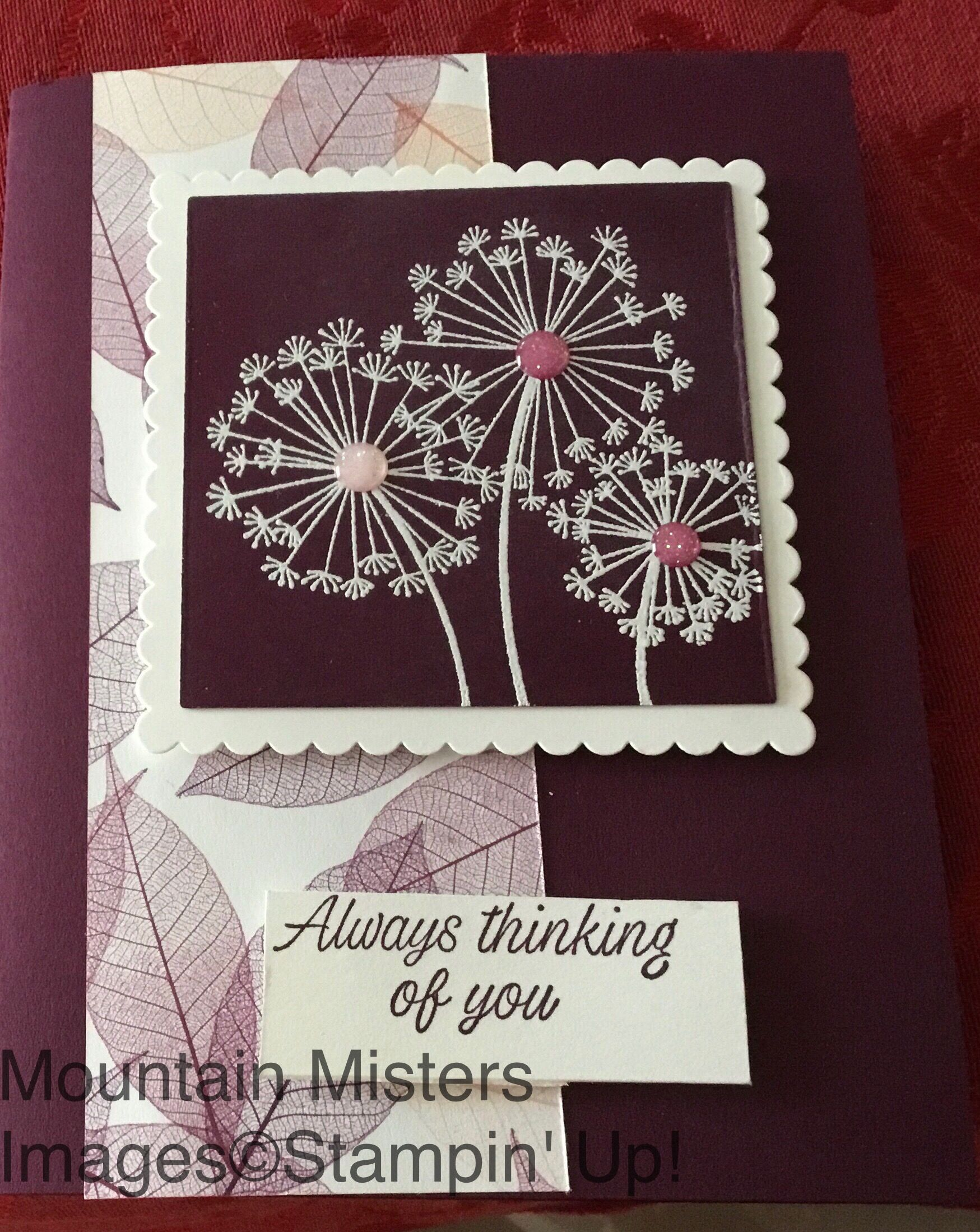 BLUE MOUNTAIN Thank You Kindness Never Forgotten Leaves  EMBOSSED Greeting Card