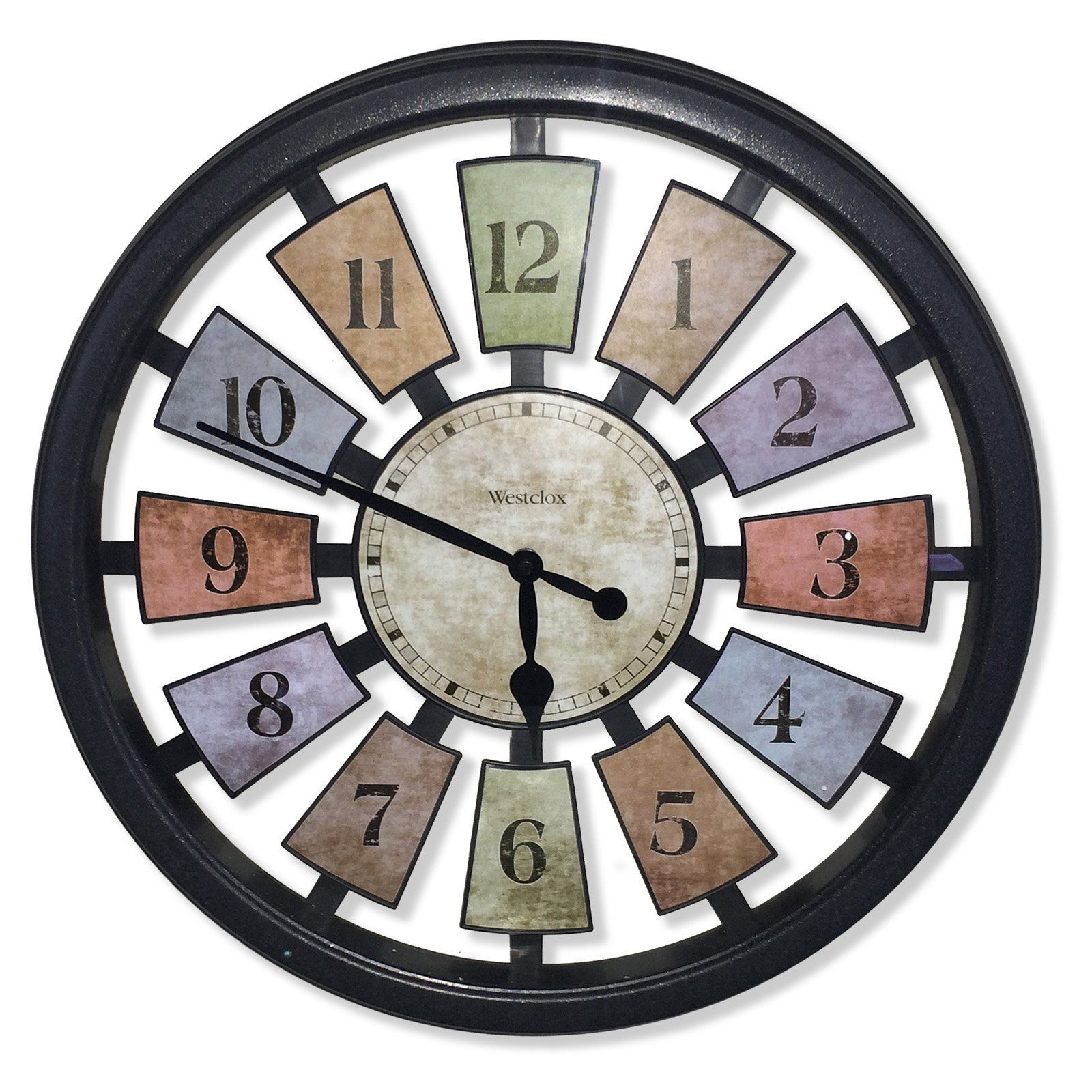 Westclox 185 in round kaleidoscope wall clock 36014 products round kaleidoscope wall clock 36014 amipublicfo Gallery