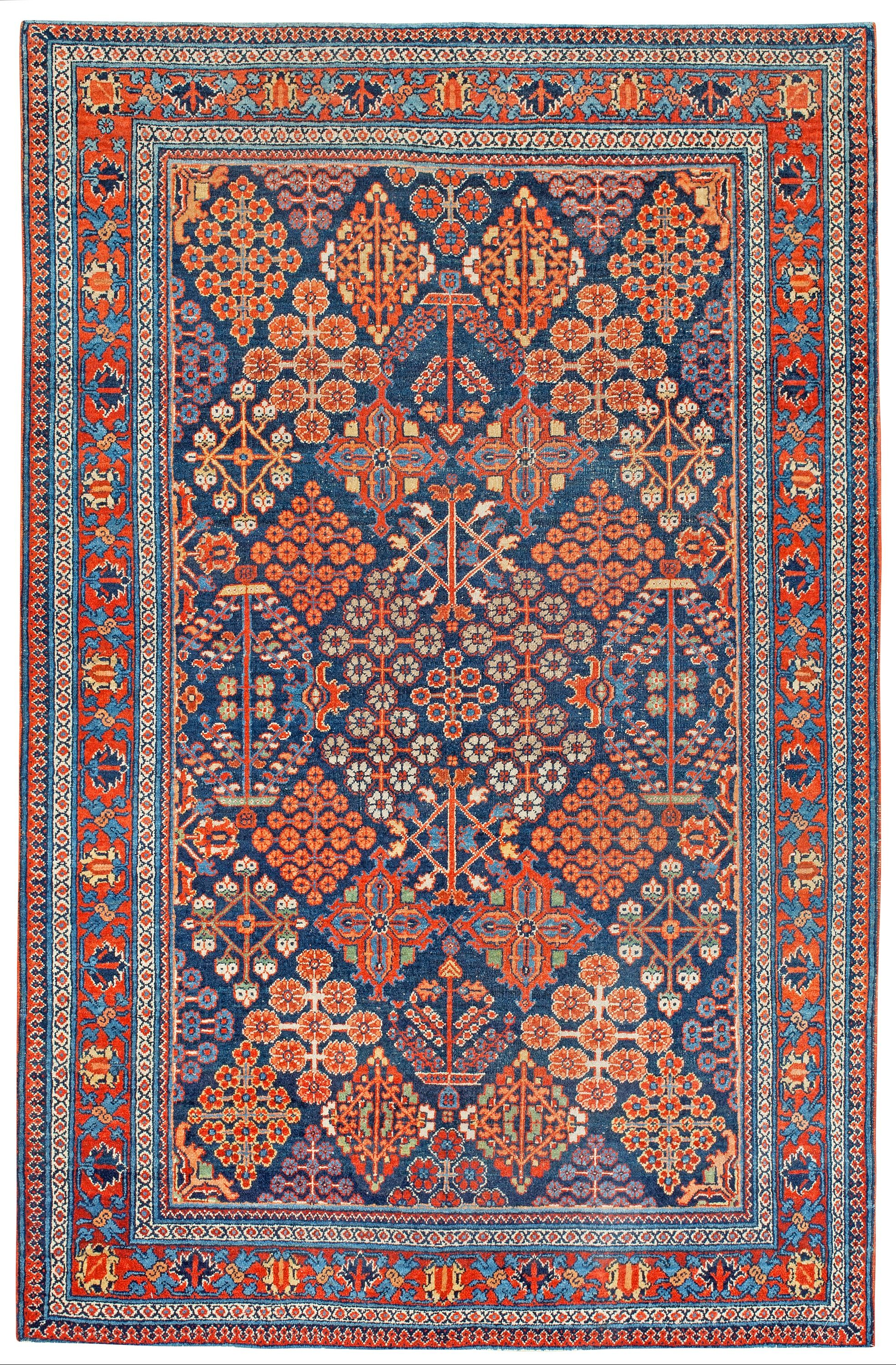 Persian Josheghan Rug Mid 20th C Persian Rug Designs Rugs On Carpet Carpet Handmade