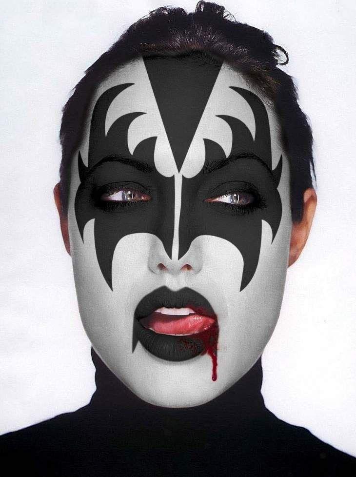 Angelina Jolie Kiss Face Paint Kiss Costume Angelina Jolie Kiss