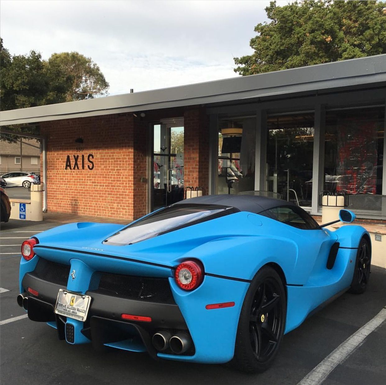 Ferrari LaFerrari painted in Matte Blue  Photo taken by: @buckblu on Instagram (He is also the owner of the car)