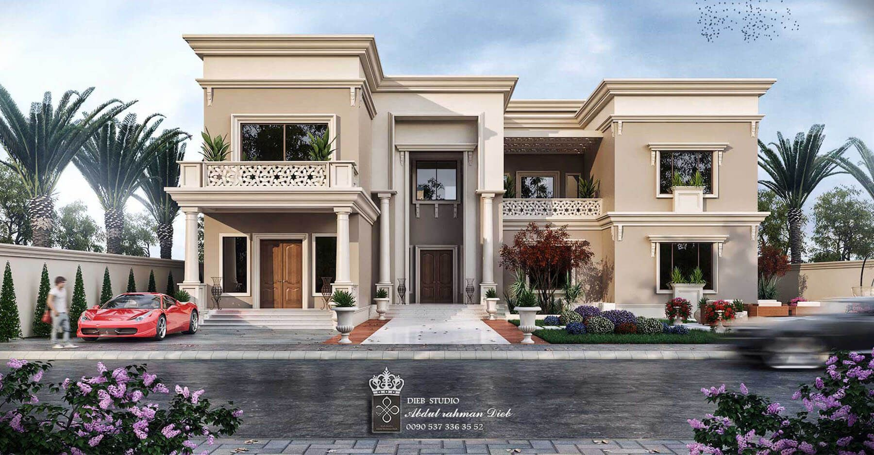 Come And Design Your Villa Or Building Or Hotel Or Interior Decor With Us We Have Fantastic Arc Mediterranean Homes Classic House Exterior House Outside Design