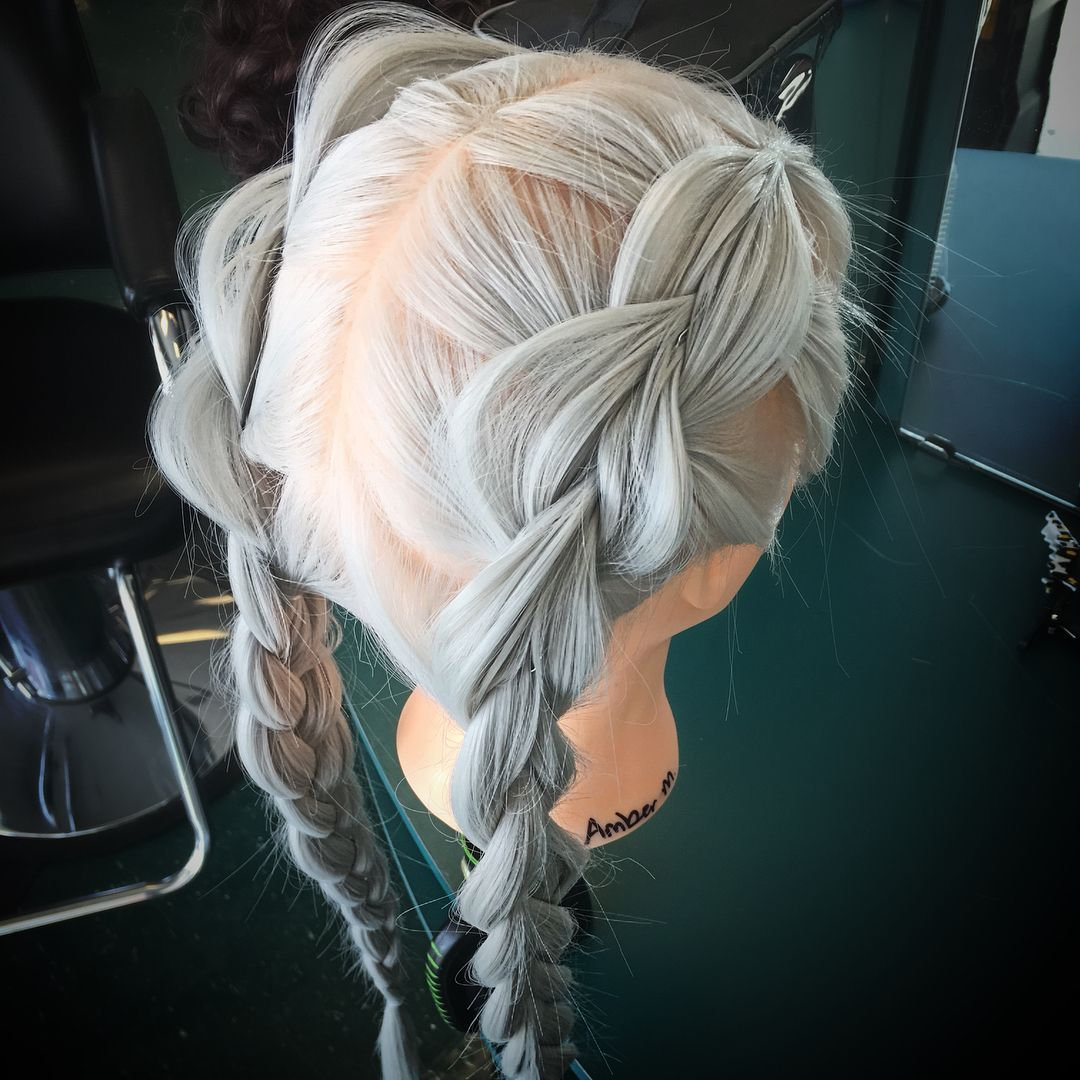 Braids on my synthetic mannequin braidshair