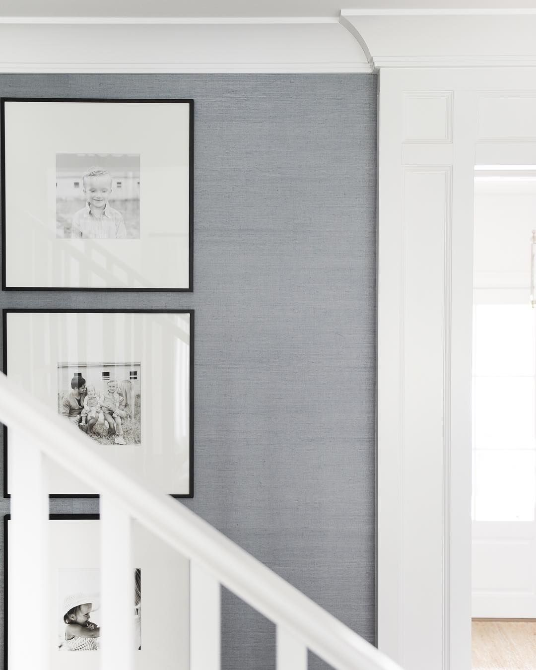 Hallway wallpaper or paint  Grasscloth Wallpaper in Dusty Blue  Roll  Master Oasis  Pinterest