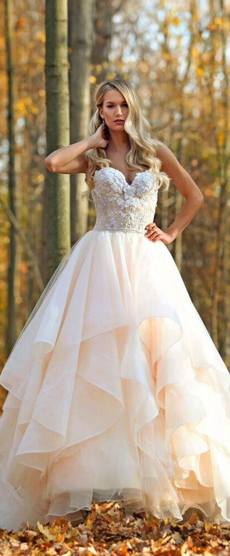 Exquisite lace u organza sweetheart neckline aline wedding dress