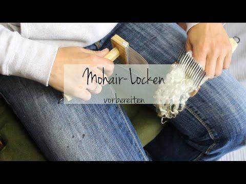 Mohair-Locken zum Spinnen vorbereiten (Locken-Serie Teil 2) - YouTube