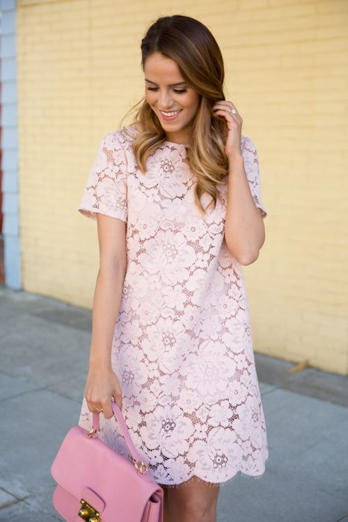 A simple pink lace dress | Fashion | Pinterest | Diy dress, Pink ...