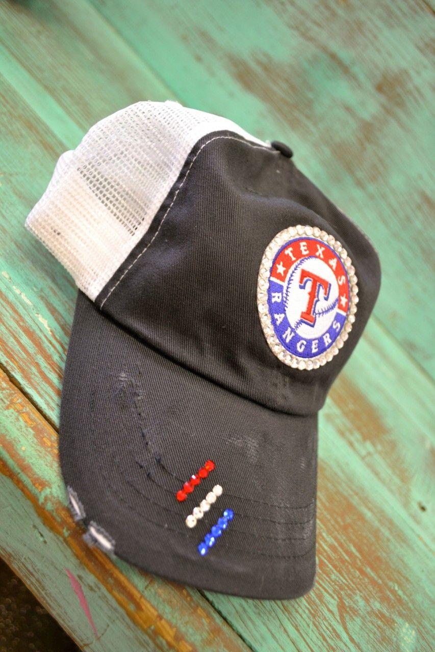 Texas Rangers Bedazzled Hat, $44.95