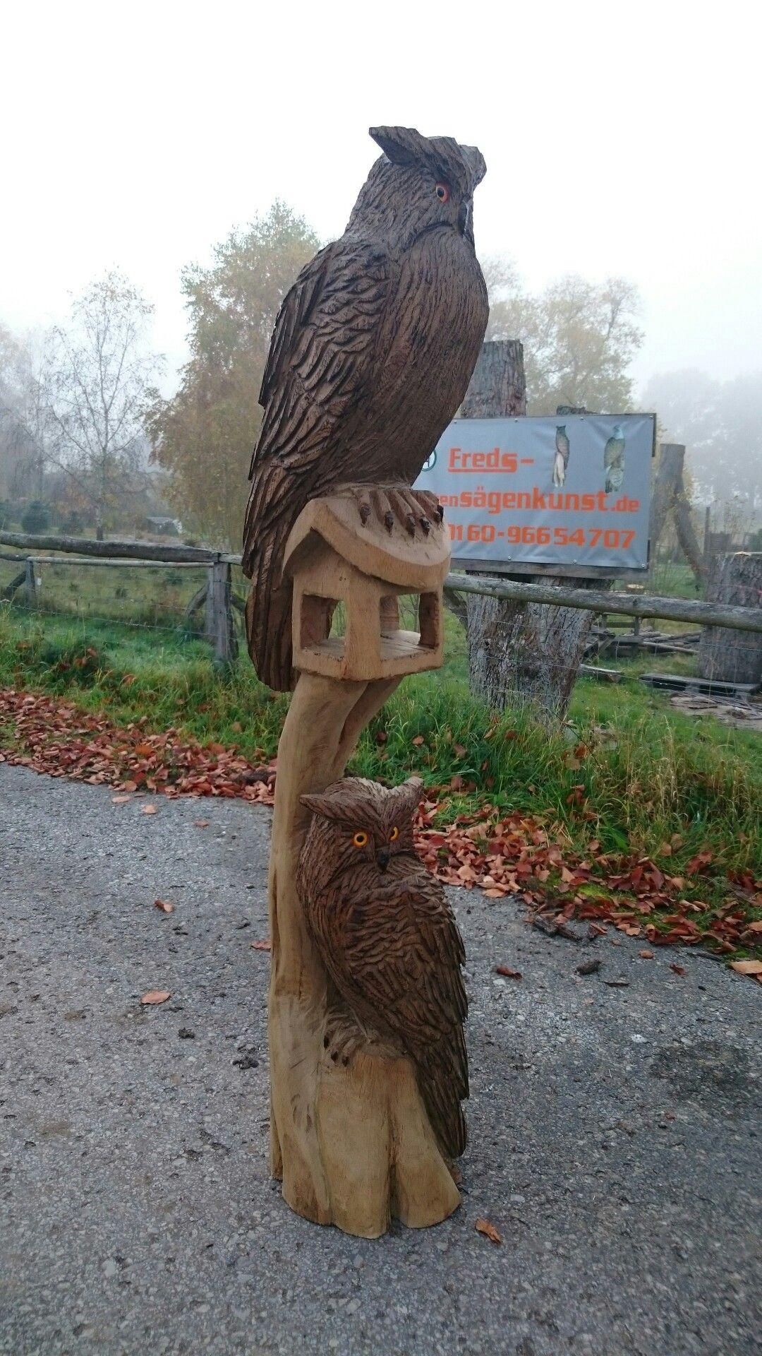 kettensägenkunst vogelhaus | الصناعات الصدفية و الخشبية و الإسمنتية