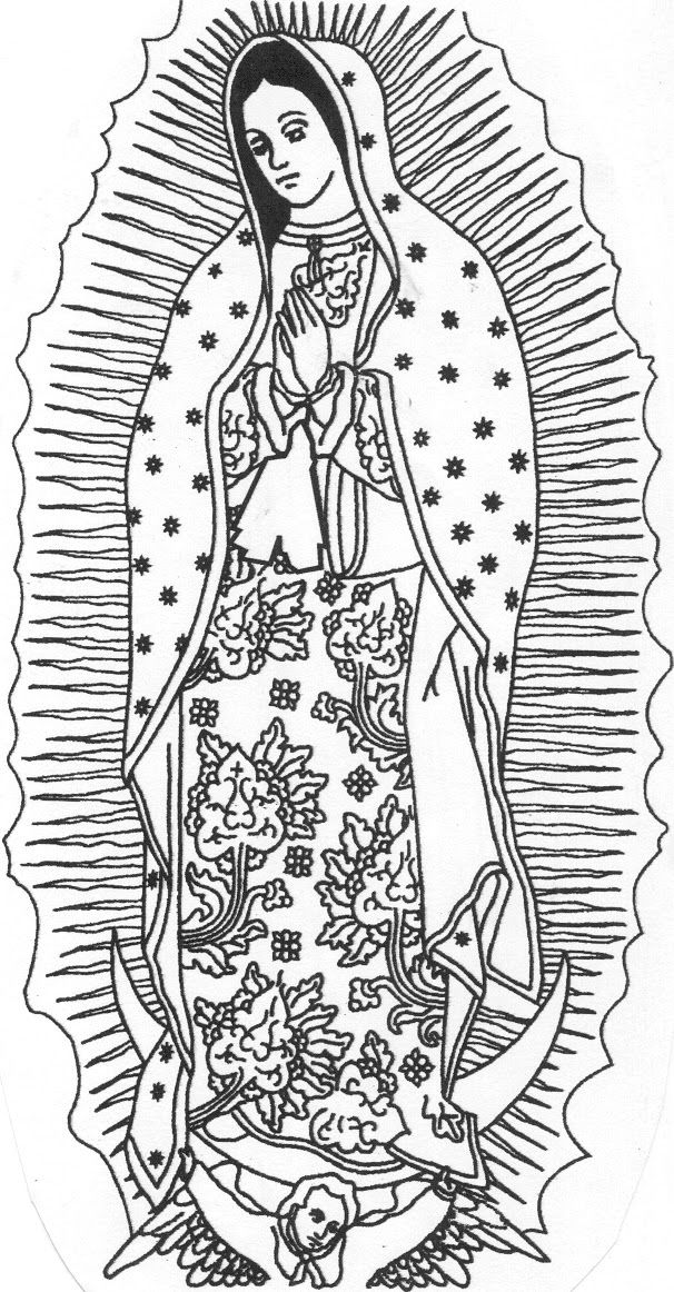 This is a picture of Adorable Virgen De Guadalupe Drawing