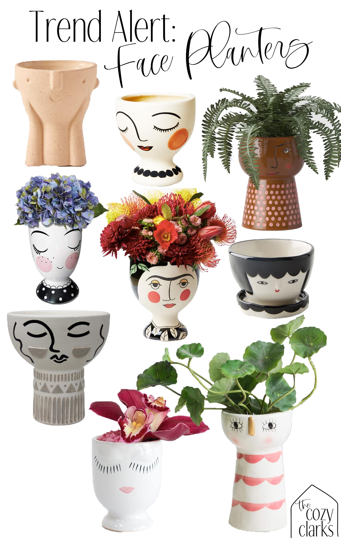 Trend Alert Face Planter Edition Everyone S Making Friends Out Of Plants Face Planters Face Planters Diy Painted Pots Diy