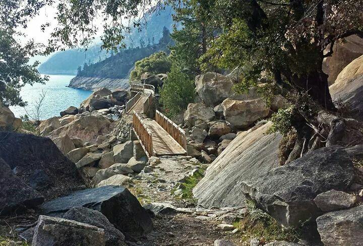 Hiking trail in Hetch Hetchy