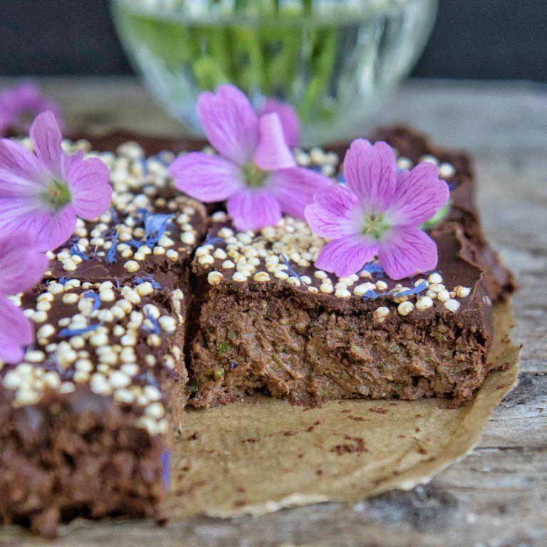 Zucchini Brownies vegan ohne Zucker glutenfrei zucchinimuffins