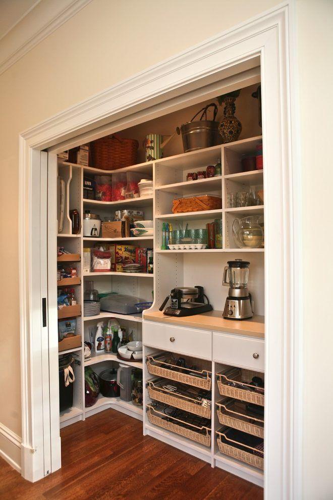 Farmhouse Kitchen Decorating Ideas Kitchen Traditional With Sliding Doors  Corner Shelves White Trim