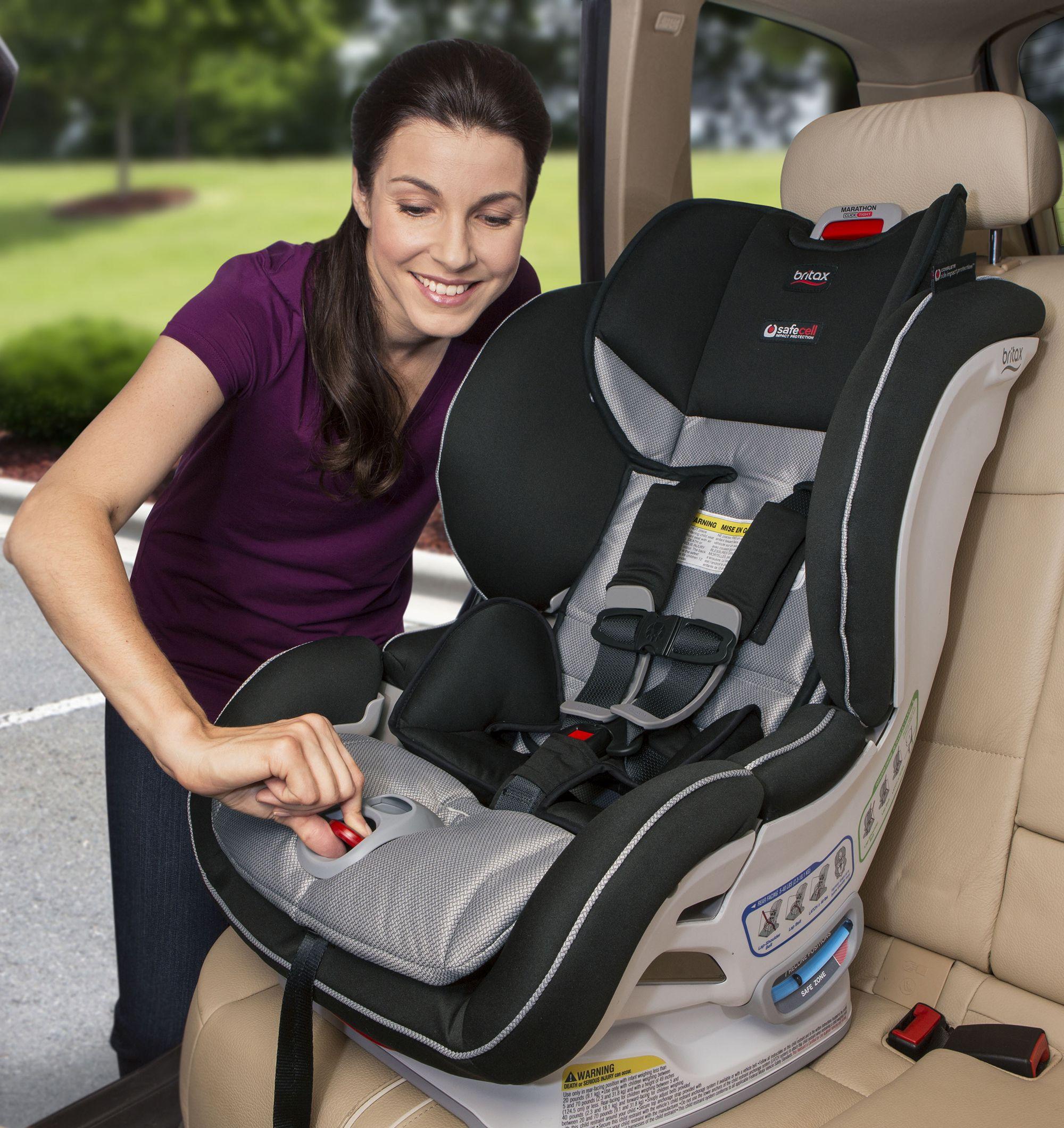 The Britax Marathon Clicktight Makes Car Seat Installation As Simple As Buckling A Seat Belt Bruexc Britax Marathon Clicktight Britax Marathon Baby Car Seats