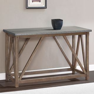 Zinc Top Bridge Sofa Table Ping Great Deals On Coffee End Tables