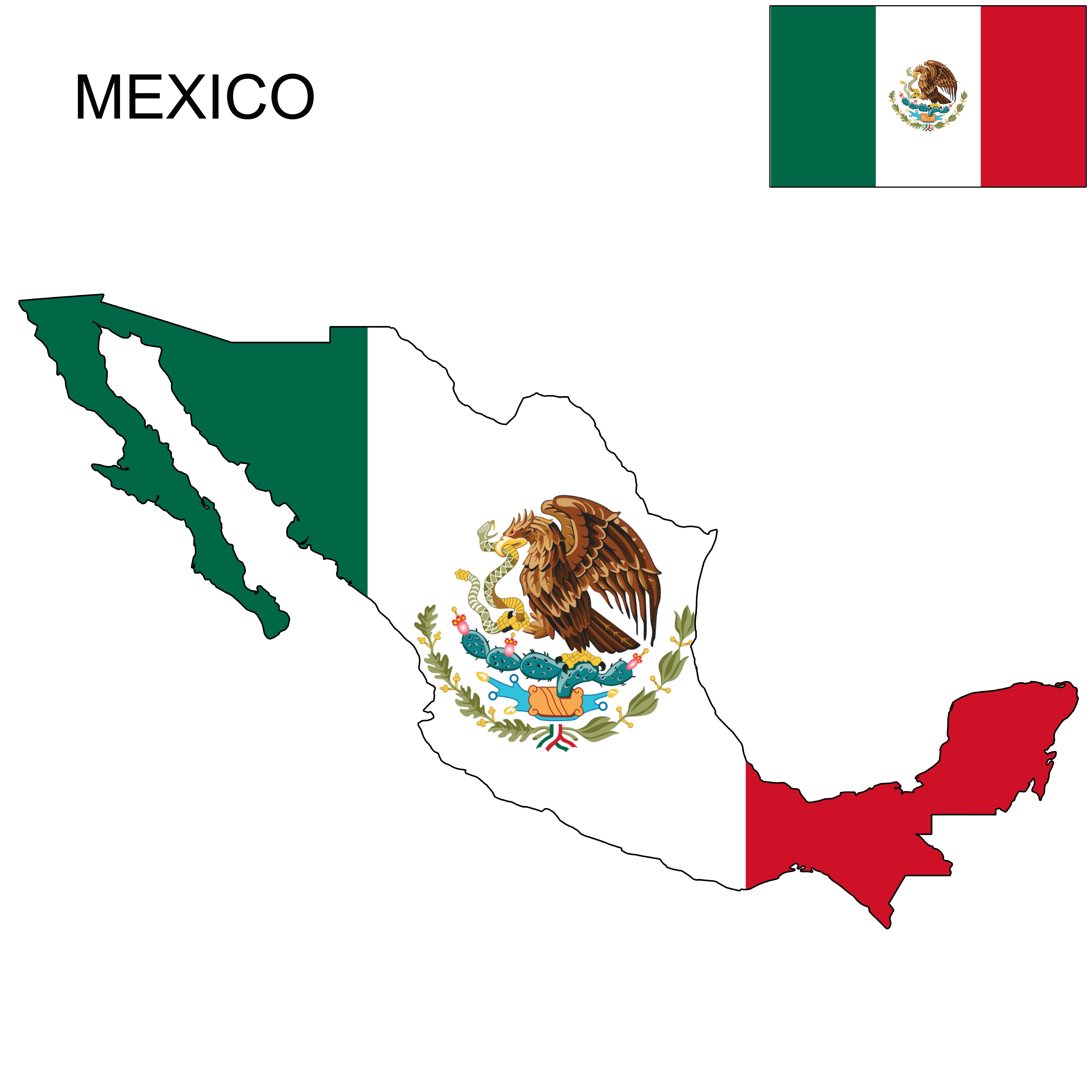 Mexico Flag Map American Flag Art Mexican Flag Drawing Mexico Flag