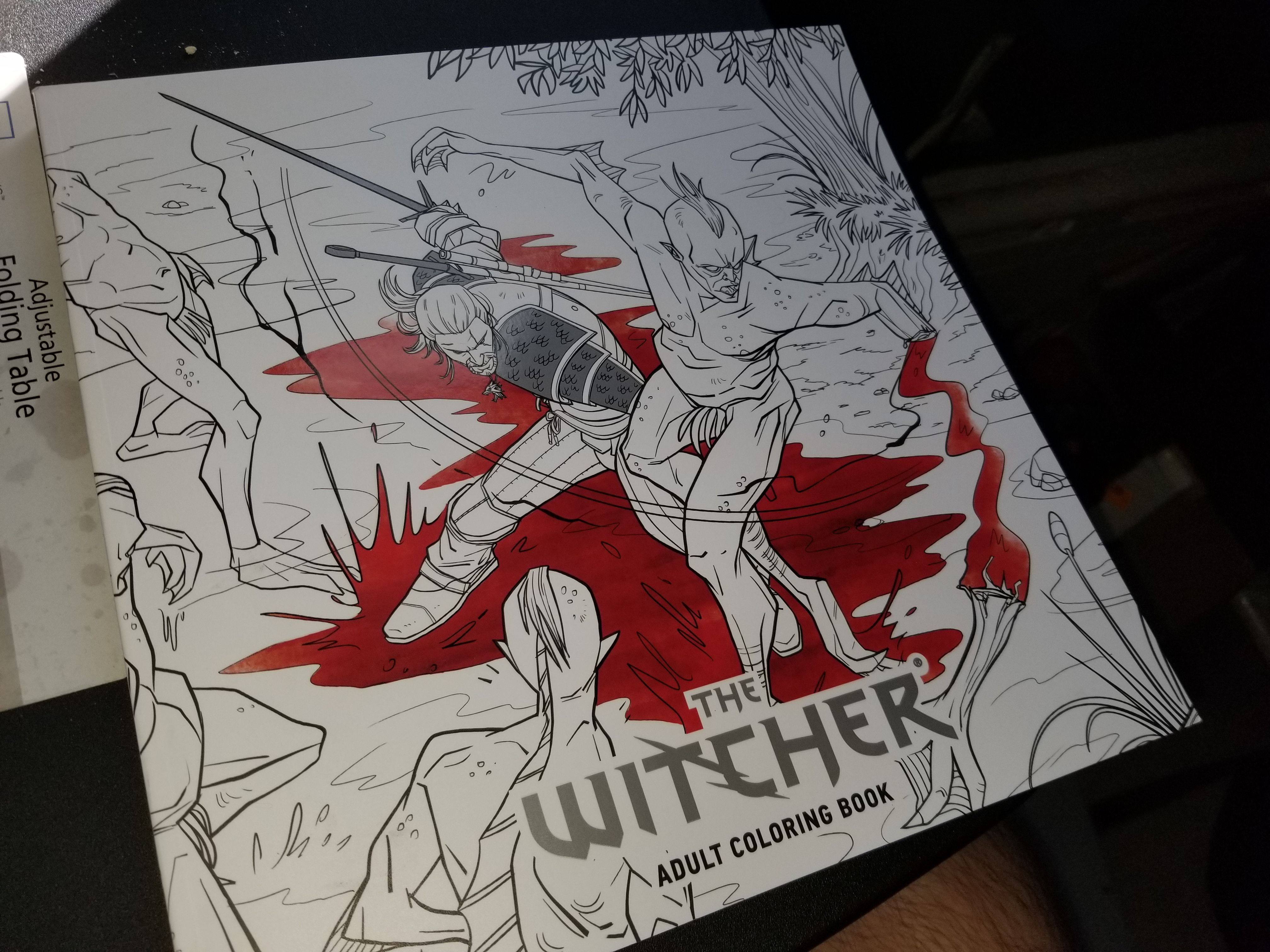Our Own Copies Of The Witcher Adult Coloring Book Heres A Few Pictures To Show How Awesome It Is TheWitcher3 PS4 WILDHUNT PS4share Games Gaming