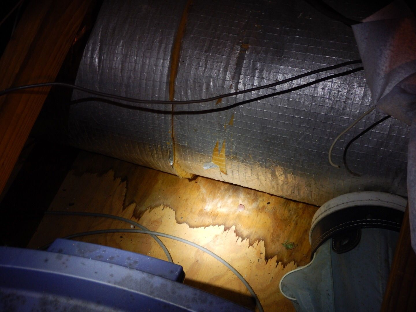 Here is an example of air conditioning ductwork that is