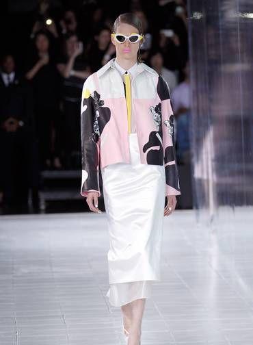Prabal Gurung também mostrou suas propostas para o verão 2014 neste sábado PETER MICHAEL DILLS / AFP. Semana de Moda de Nova York-