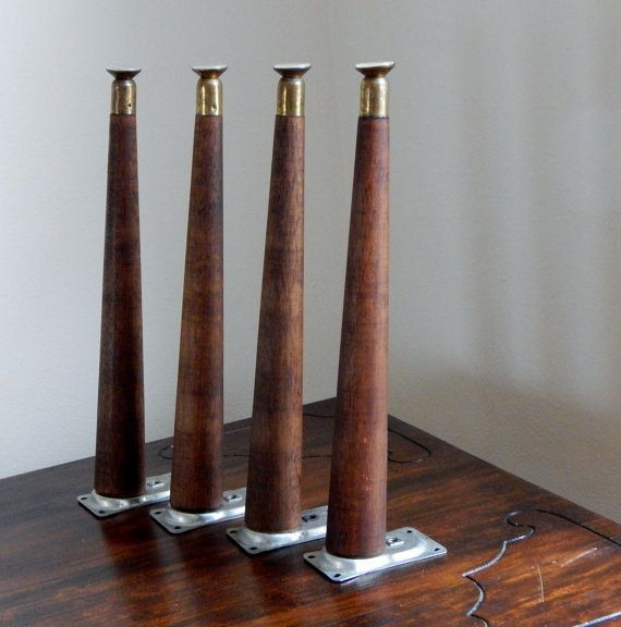 Furniture Legs Mid Century mid century modern tapered wood legs vintagesaleofestates