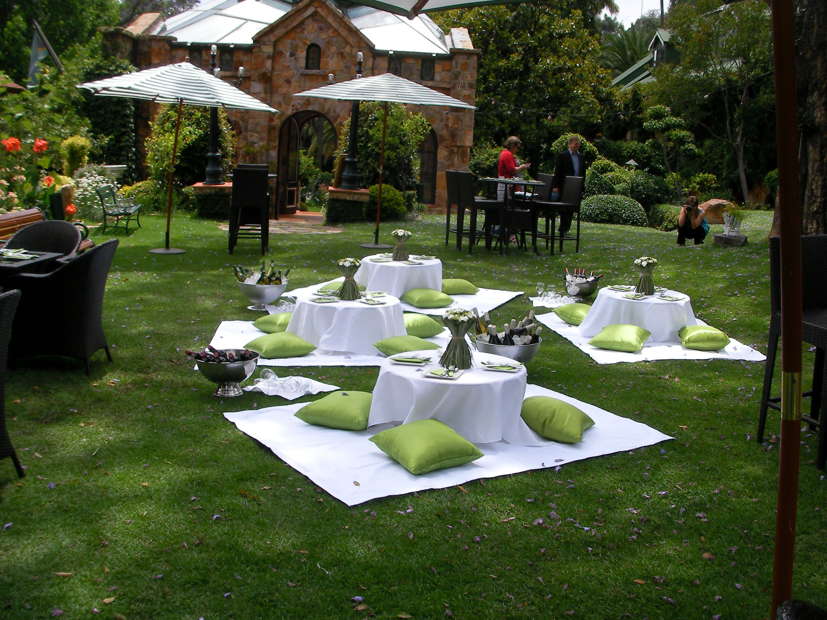 green white picnic wedding by