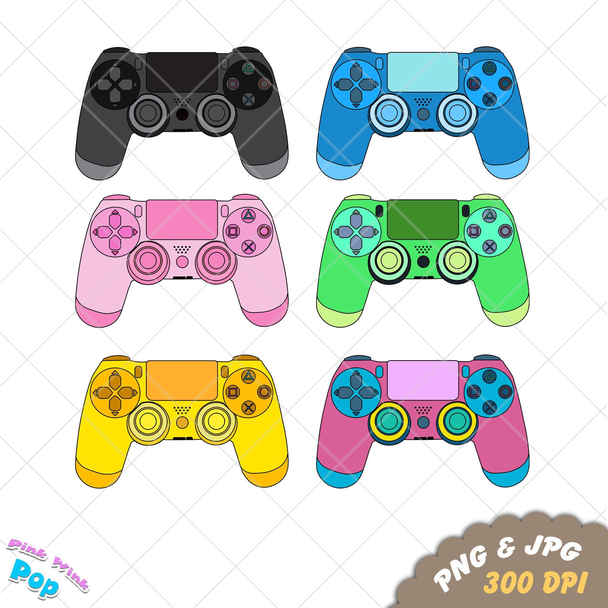 Playstation 4 Controller Clipart Is In At My Etsy Shop Gaming Png Jpg Ps4 Controller Clipart For Tee Shirts Printables Signs Clip Art Sticker Sign Party Card