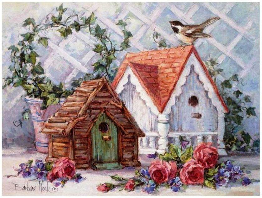 Картинки для домиков декупаж