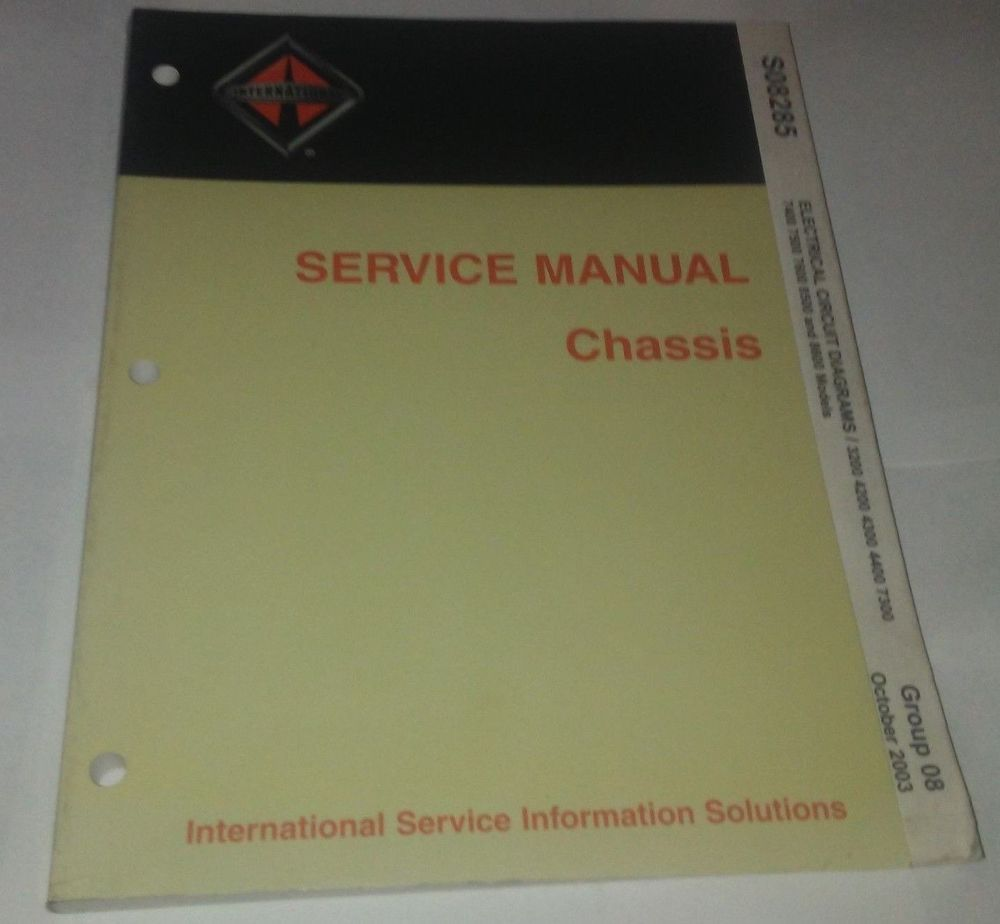 hight resolution of international service manual chassis electrical circuit diagrams s08285 10 2003