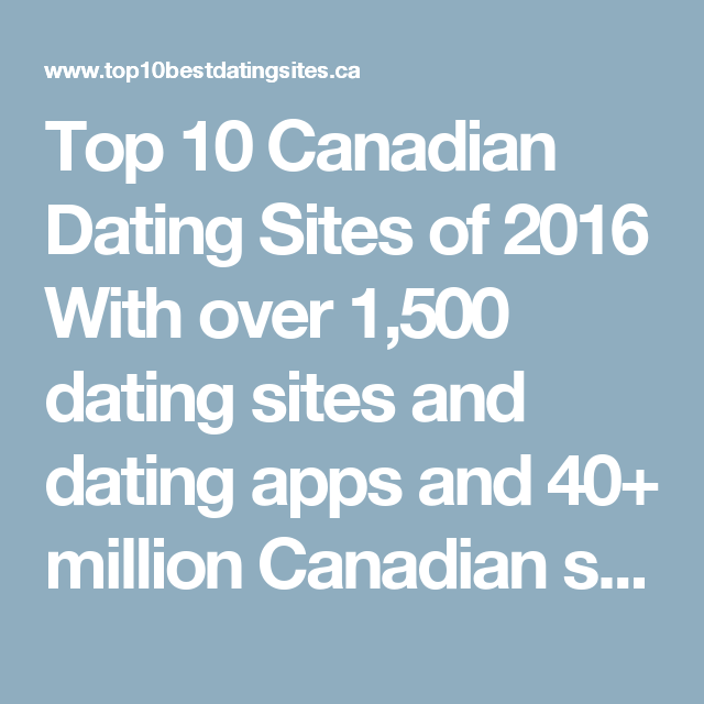 top ti canadiske dating sites