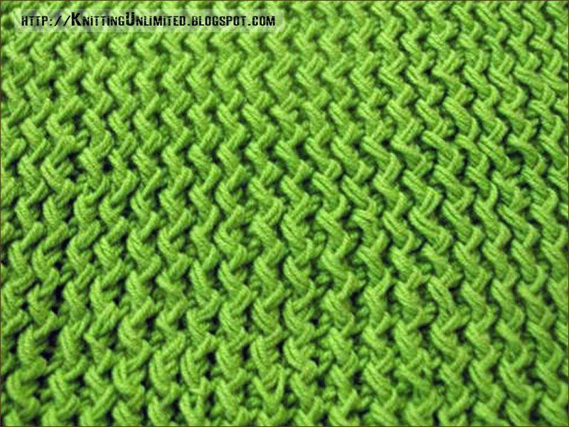 Zig zag knitting stitch