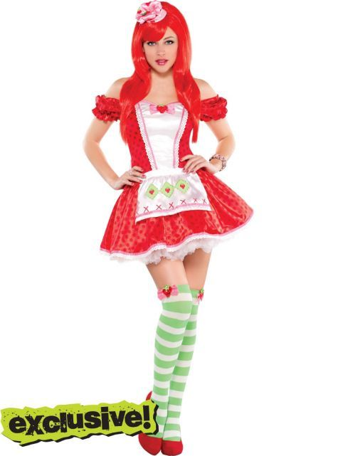 4a6147f36 Adult Strawberry Shortcake Costume - Party City | Strawberry ...