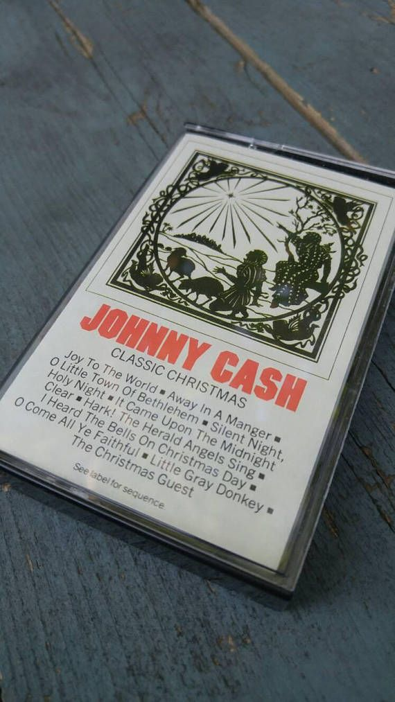 Johnny Cash I Heard The Bells On Christmas Day.Johnny Cash Classic Christmas Cassette Tape Great