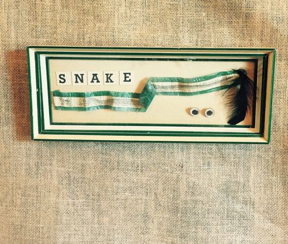 Vintage Occupied Japan Snake Eyes  Shadow Box by SweetPeaPastiche